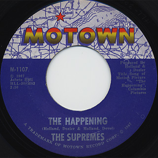 Supremes / All I Know About You c/w The Happening back