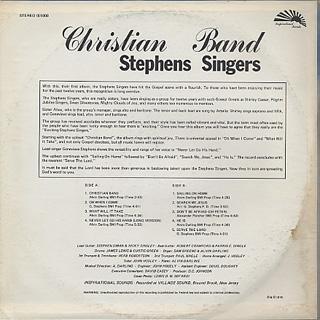 Stephens Singers / Christian Band back