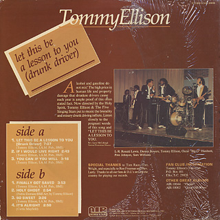 Tommy Ellison / Let This Be A Lesson To You back
