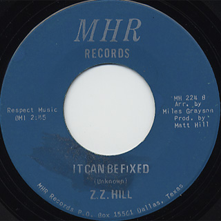 Z.Z. Hill / You Better Take Time c/w It Can Be Fixed back