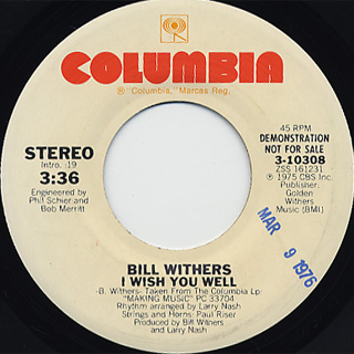 Bill Withers / I Wish You Well