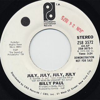 Billy Paul / July, July, July,July