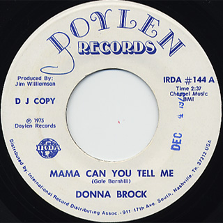 Donna Brock / Mama Can You Tell Me front