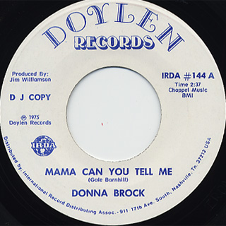 Donna Brock / Mama Can You Tell Me back