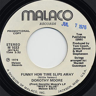 Dorothy Moore / Funny How Time Slips Away back