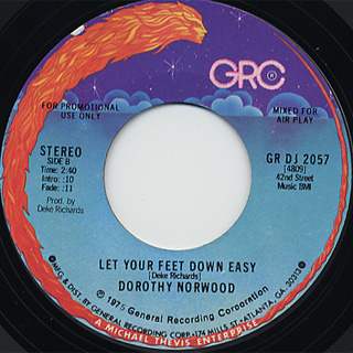 Dorothy Norwood / Let Your Feet Down Easy back