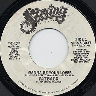 Fatback / I Wanna Be Your Lover back