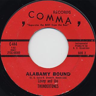 Lenny And The Thundertones / Thunder Express c/w Alabamy Bound back