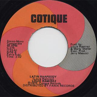 Louie Ramirez / Latin Rhapsody c/w Salsa back