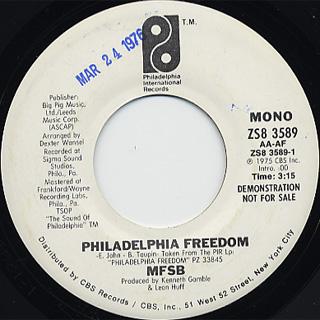 MFSB / Philadelphia Freedom back