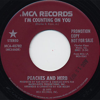Peaches And Herb / I'm Counting On You