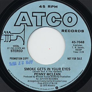 Penny Mclean / Smoke Gets In Your Eyes front