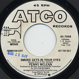 Penny Mclean / Smoke Gets In Your Eyes back