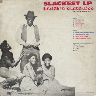 Ranking Slackness / Slackest LP back