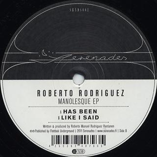 Roberto Rodriguez / Manolesque EP back