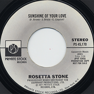 Rosetta Stone / Sunshine Of Your Love front