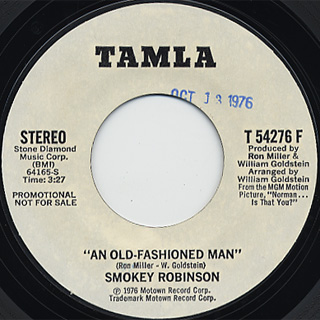 Smokey Robinson / An Old Fashioned Man front