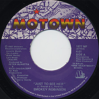 Smokey Robinson / Just To See Her c/w I'm Gonna Love You Like There's ~