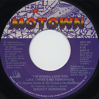 Smokey Robinson / Just To See Her c/w I'm Gonna Love You Like There's ~ back