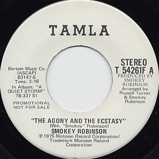 Smokey Robinson / The Agony And The Ecstasy front