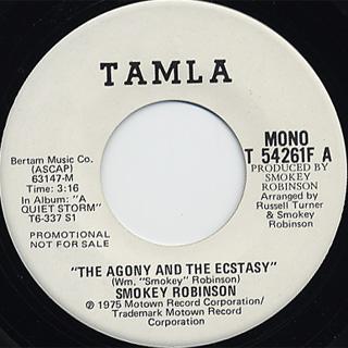 Smokey Robinson / The Agony And The Ecstasy back