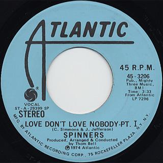 Spinners / Love Don't Love Nobody (Pt.1)