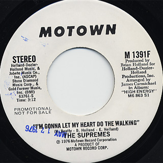 Supremes / I'm Gonna Let My Heart Do The Walking front