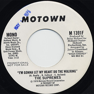 Supremes / I'm Gonna Let My Heart Do The Walking back