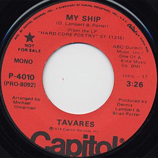 Tavares / My Ship back