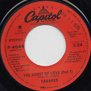 Tavares / The Ghost Of Love (Part 1)