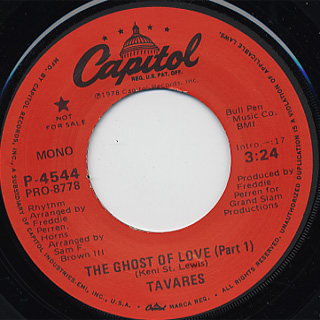 Tavares / The Ghost Of Love (Part 1) back