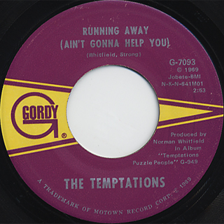 Temptations / I Can't Get Next To You c/w Running Away
