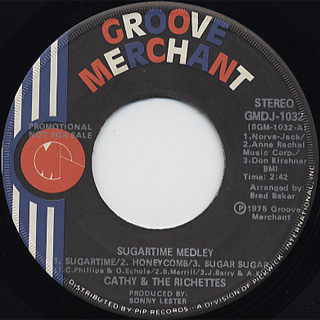 Cathy And Richettes / Roxie c/w Sugartime Medley