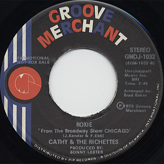 Cathy And Richettes / Roxie c/w Sugartime Medley back