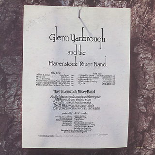 Glenn Yarbrough and The Havenstock River Band / S.T. back