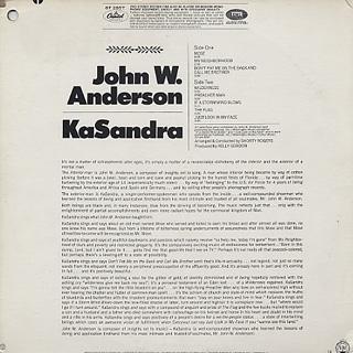 John W. Anderson / Kasandra back
