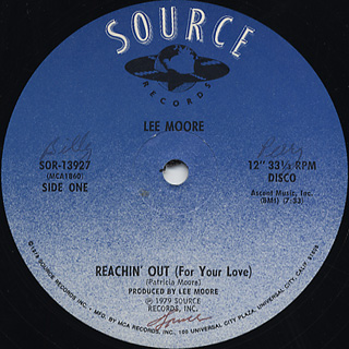 Lee Moore / Reachin' Out c/w Inst