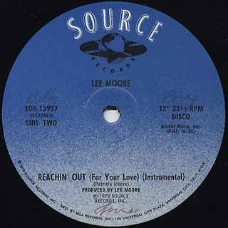 Lee Moore / Reachin' Out c/w Inst back