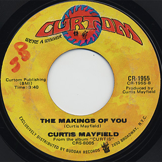 Curtis Mayfield / (Don't Worry) If There's A Hell ~ c/w The Making Of You back