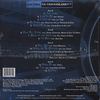 Hi-Tek / Hi-Teknology Vol. 3 back