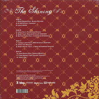 J Dilla / The Shining (2LP) back