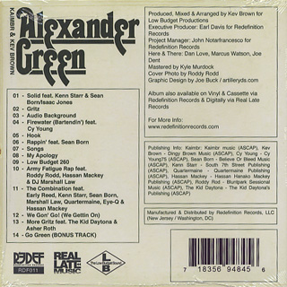 Kaimbr & Kev Brown / The Alexander Green Project (CD) back