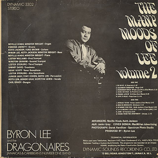 Byron Lee and The Dragonaires / Many Moods Of Lee Vol.2 back