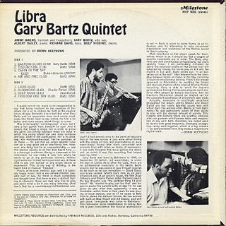 Gary Bartz Quintet / Libra back