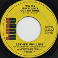 Esther Phillips / Home Is Where The Hatred Is c/w 'Til My Back Ain't~