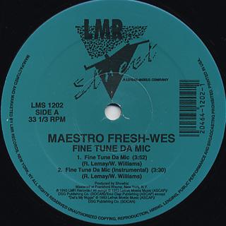 Maestro Fresh-Wes / Fine Tune Da Mic back