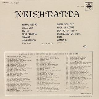 Pedro Santos / Krishnanda back