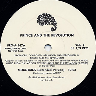 Prince and The Revolution / Mountains back