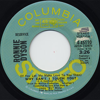 Ronnie Dyson / Why Can't I Touch You? c/w (Mono)