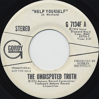 Undisputed Truth / Help Yourself c/w (Mono)